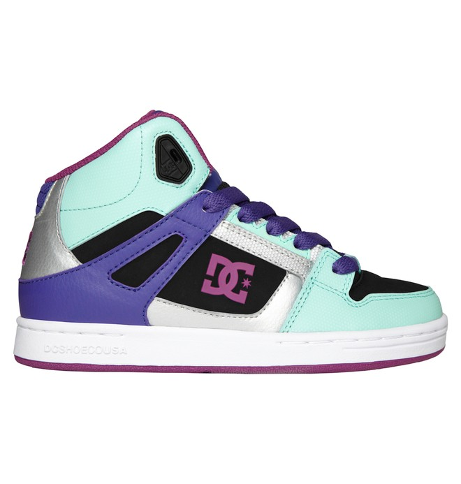 0 Kid's 4-7 Rebound High-Top Shoes Green 302676A DC Shoes