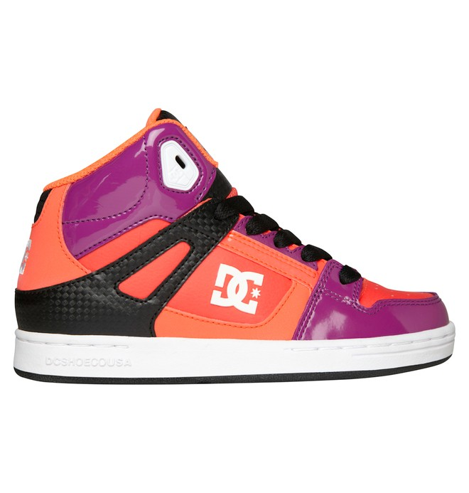 0 Kid's 4-7 Rebound High-Top Shoes Purple 302676A DC Shoes