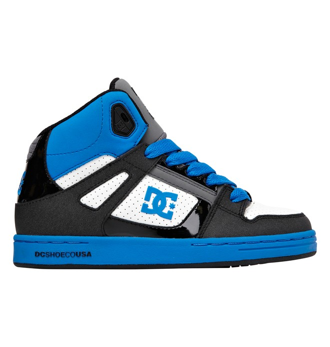 0 Kid's 4-7 Rebound High-Top Shoes Blue 302676A DC Shoes