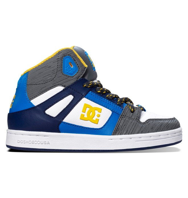 0 Kid's 4-7 Rebound High-Top Shoes White 302676A DC Shoes