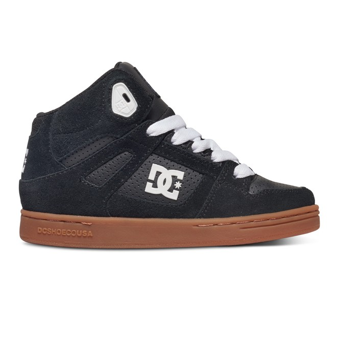 0 Kid's 8-16 Rebound High-Top Shoes Black 302676B DC Shoes