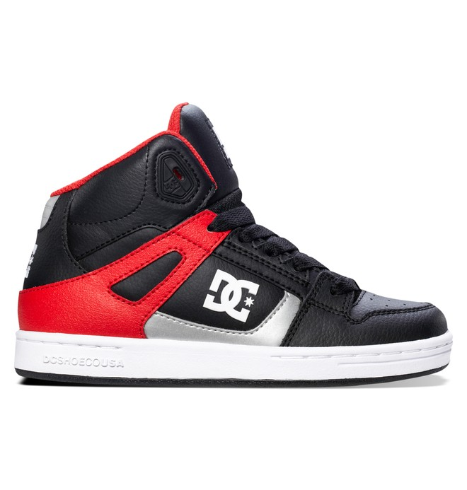 0 Boy's 8-16 Rebound High-Top Shoes Black 302676B DC Shoes