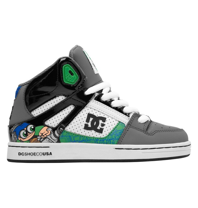 0 Boy's Wild Grinders Rebound Shoes Grey 302932B DC Shoes