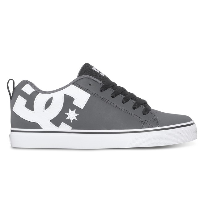 0 Men's Court Vulc Shoes Grey 303181 DC Shoes