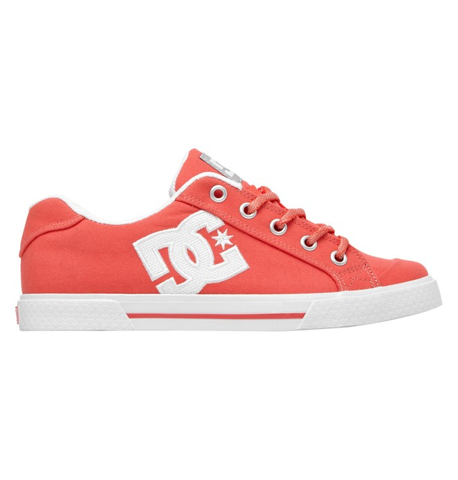 0 Women's Chelsea TX Low Top Shoes Red 303226 DC Shoes