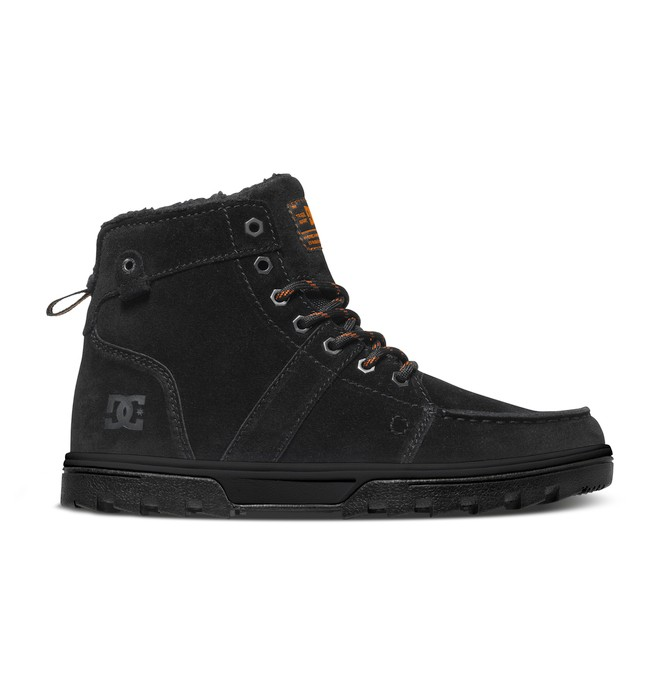 0 Men's Woodland Boots Black 303241 DC Shoes