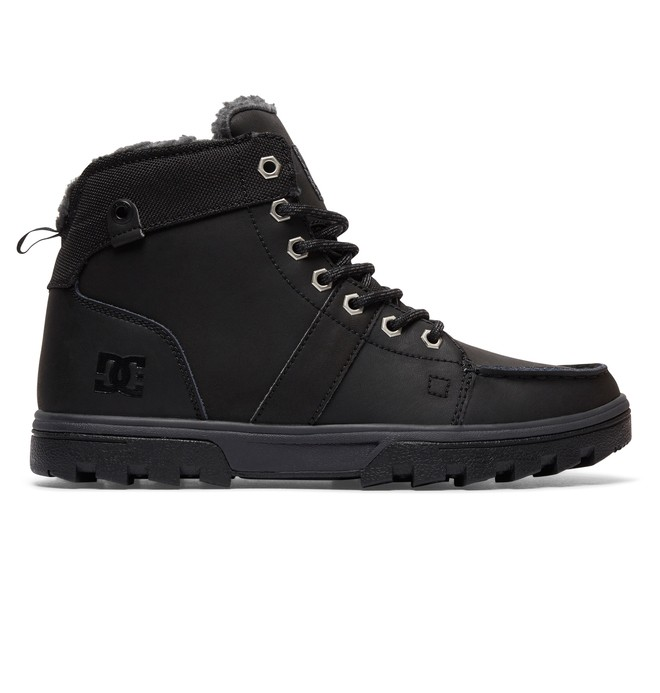 0 Men's Woodland Lace-Up Boots Black 303241 DC Shoes