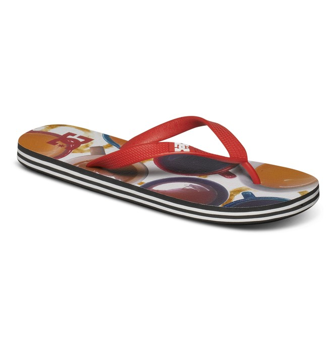 0 Men's Spray Graffik Sandals Red 303276 DC Shoes