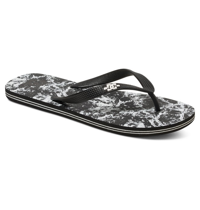 0 Men's Spray Graffik Flip flops Black 303276 DC Shoes
