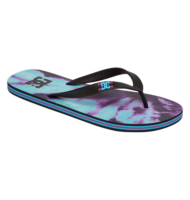 0 Men's Spray Graffik Flip flops Purple 303276 DC Shoes