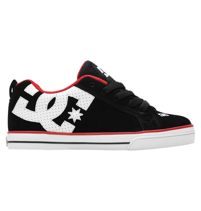 0 Kid's Court Graffik Vulc Shoes Black 303296A DC Shoes