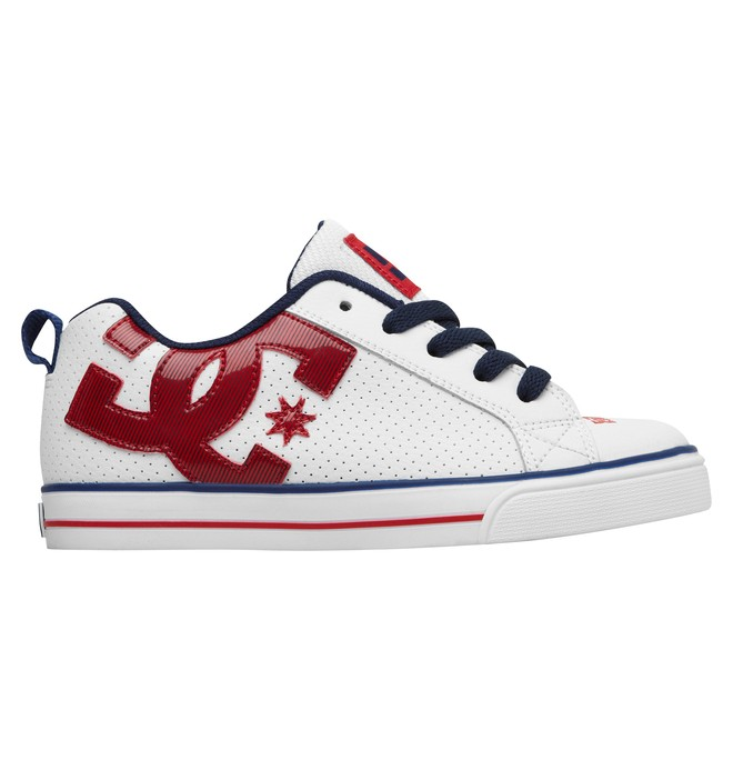 0 Kid's Court Graffik Vulc Shoes Red 303296A DC Shoes