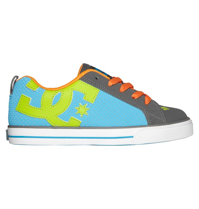 0 Kid's Court Graffik Vulc Shoes Grey 303296A DC Shoes