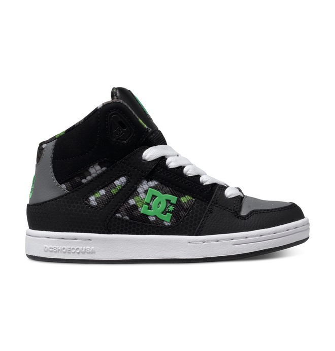 0 Boy's 4-7 Rebound SE High-Top Shoes Black 303310A DC Shoes