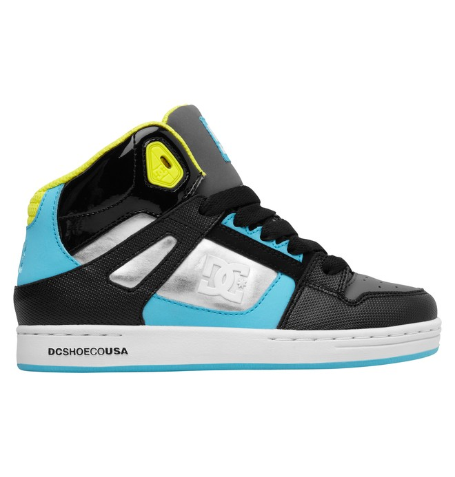 0 Boy's 4-7 Rebound SE High-Top Shoes Blue 303310A DC Shoes