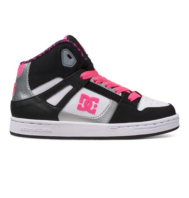 0 Kid's 4-7 Rebound SE High-Top Shoes Black 303310A DC Shoes