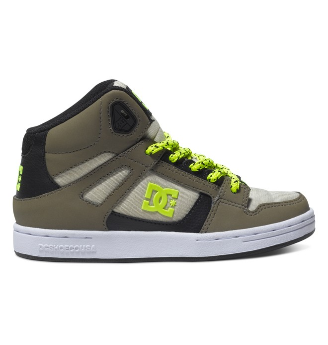 0 Boy's 4-7 Rebound SE High-Top Shoes Brown 303310A DC Shoes