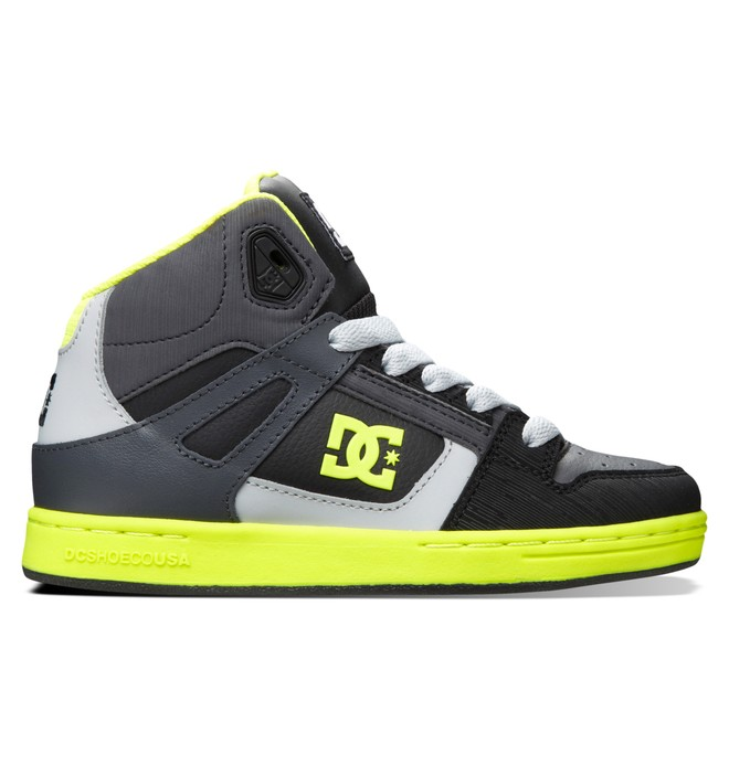0 Kid's 4-7 Rebound SE High-Top Shoes Black 303310A DC Shoes