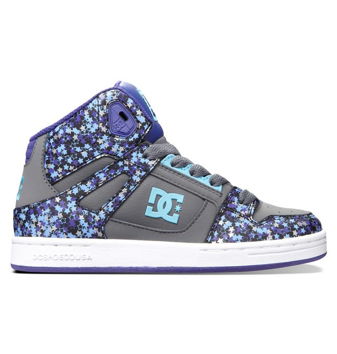 0 Kid's 4-7 Rebound SE High-Top Shoes Grey 303310A DC Shoes