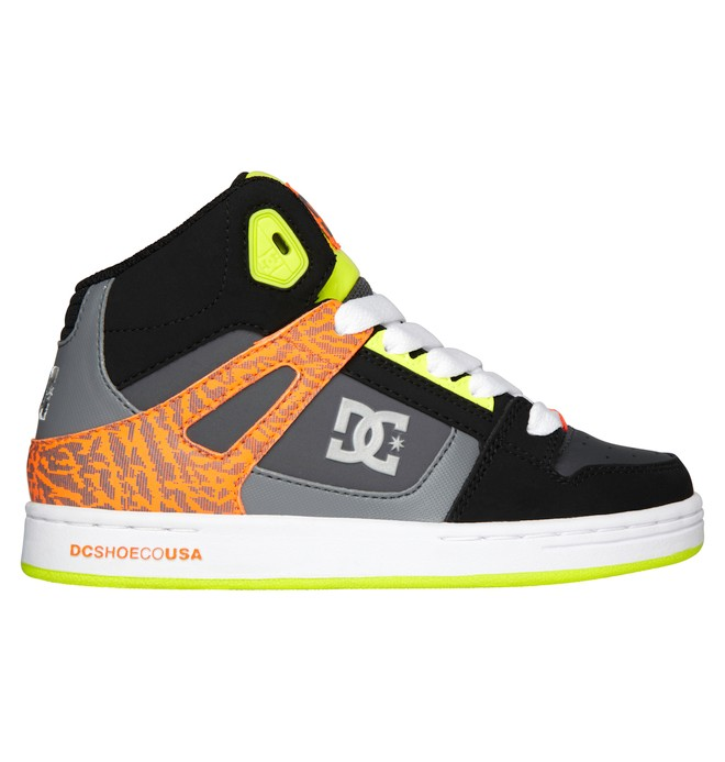 0 Kid's 4-7 Rebound SE High-Top Shoes Orange 303310A DC Shoes