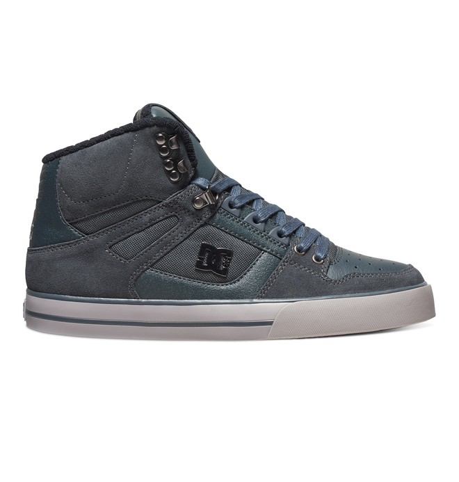 0 Men's Spartan WC SE High-Top Shoes Grey 303358 DC Shoes