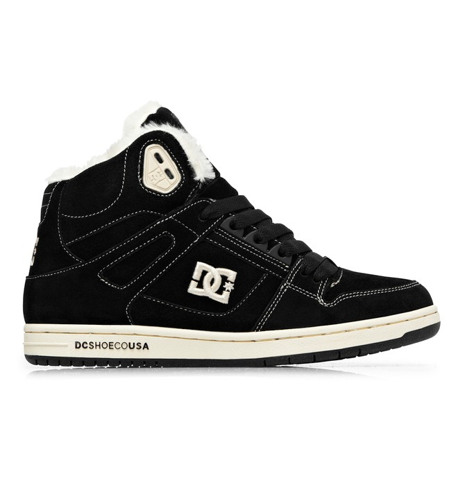 0 Women's Rebound Hi LE Shoes Black 303400 DC Shoes