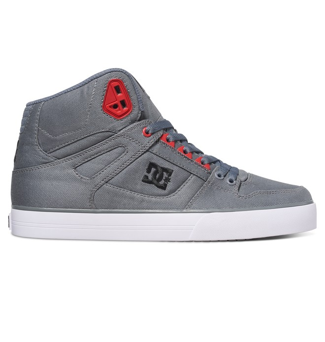 0 Men's Spartan WC TX High-Top Shoes Grey 303435 DC Shoes