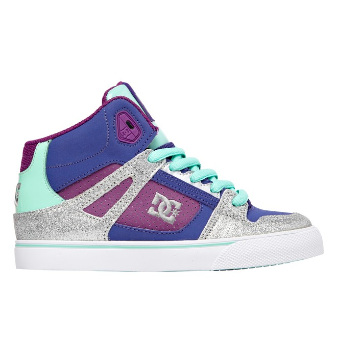 0 Kid's 4-7 Spartan High-Top Shoes Purple 303499A DC Shoes