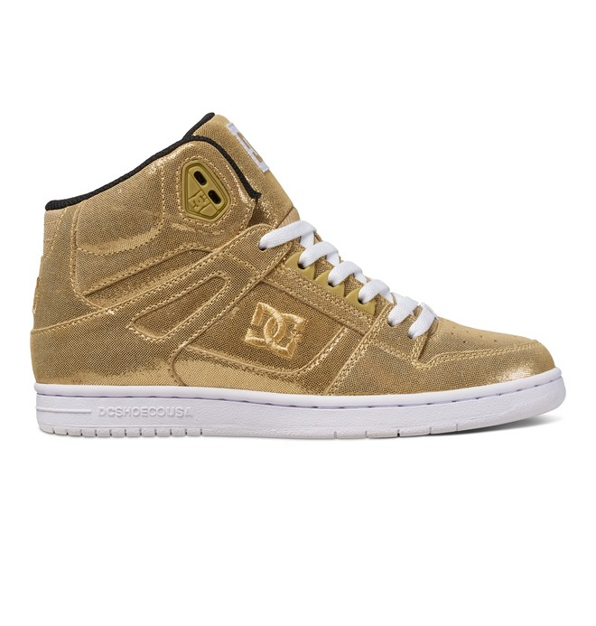 0 Women's Rebound High SE High Top Shoes Yellow 320028 DC Shoes
