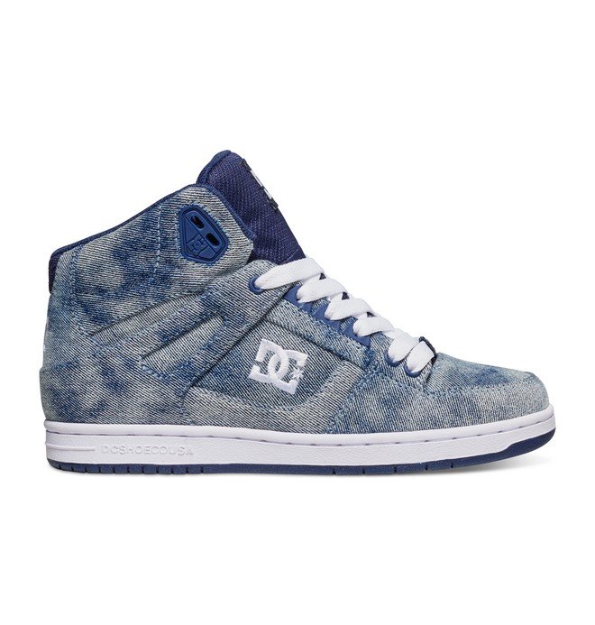 0 Women's Rebound High Top Shoe Blue 320028 DC Shoes