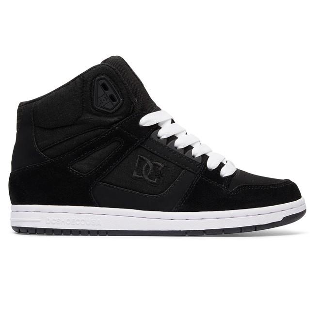 0 Women's Rebound High SE High Top Shoes Black 320028 DC Shoes