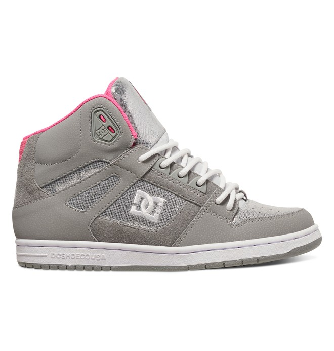 0 Women's Rebound High Top Shoe Grey 320028 DC Shoes