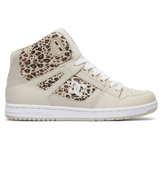 0 Women's Rebound High SE High Top Shoes Brown 320028 DC Shoes