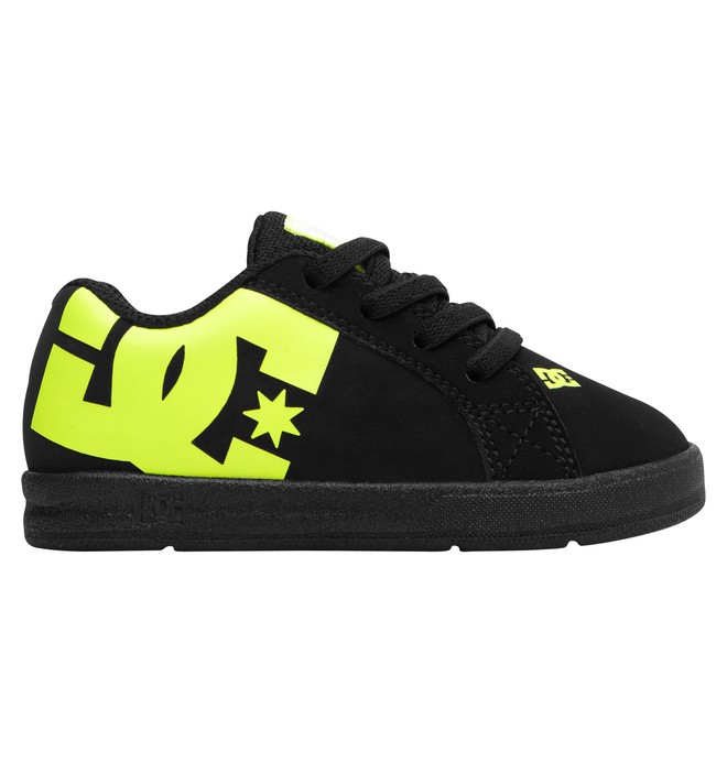 0 Toddler's Court Graffik Elastic UL Shoes Black 320168 DC Shoes