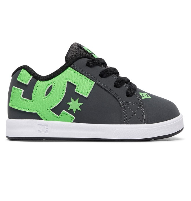 0 Toddler Court Graffik Elastic UL Slip On Shoes Green 320168 DC Shoes