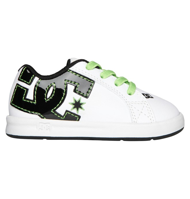 0 Toddler's Court Graffik Elastic UL Shoes Green 320168 DC Shoes