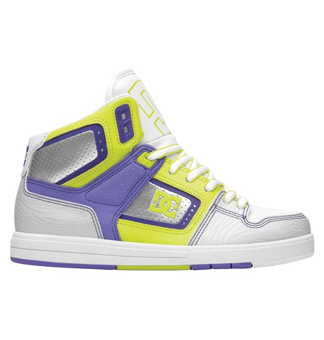 0 Women's Destroyer HI Shoes White 320306 DC Shoes