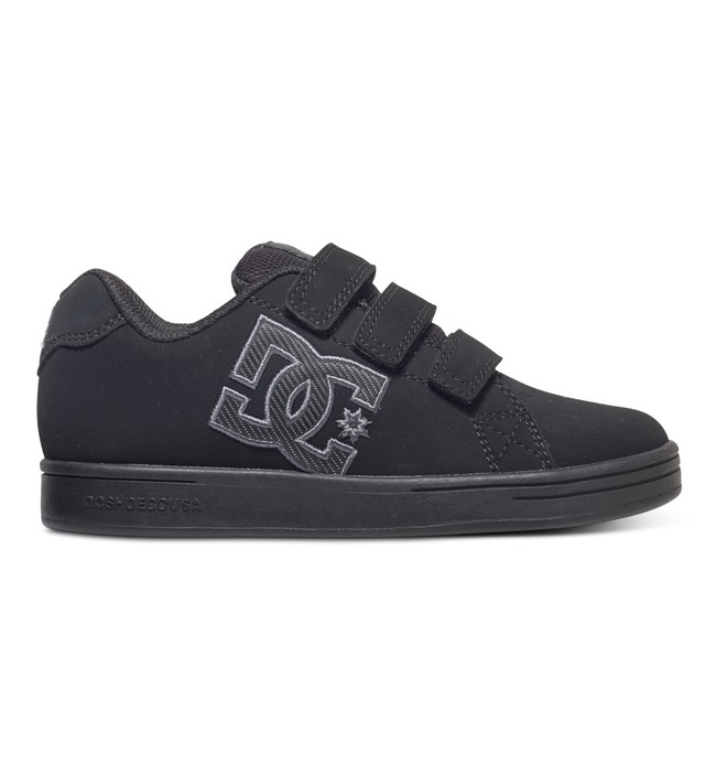 0 Boy's 8-16 Character V Shoes Black 320330B DC Shoes