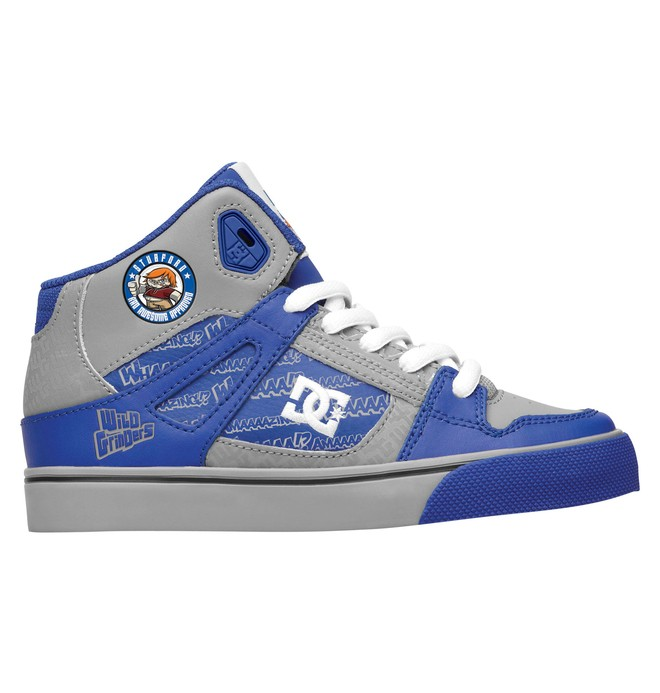 0 Kid's Wild Grinders Spartan High Shoes  320399A DC Shoes