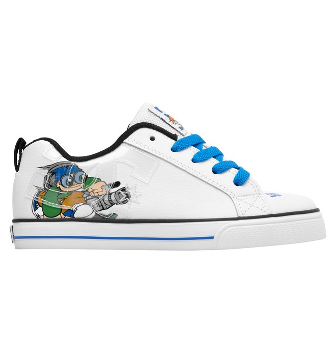 0 Kid's Wild Grinders Court Graffik Vulc Shoes Green 320407A DC Shoes