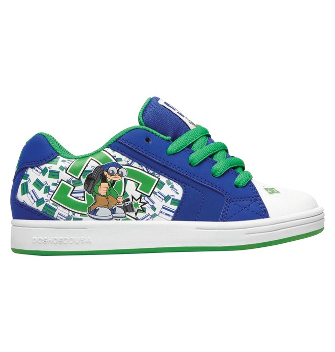 0 Kid's Wild Grinders Net Shoes Green 320411A DC Shoes
