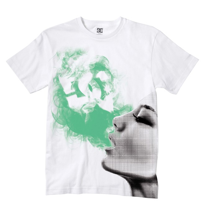 0 Men's DC Smoke Glow Tee  51200534 DC Shoes
