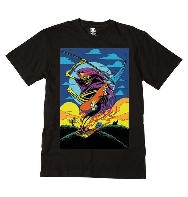 0 Men's Midnight Ripper Tee  51200564 DC Shoes