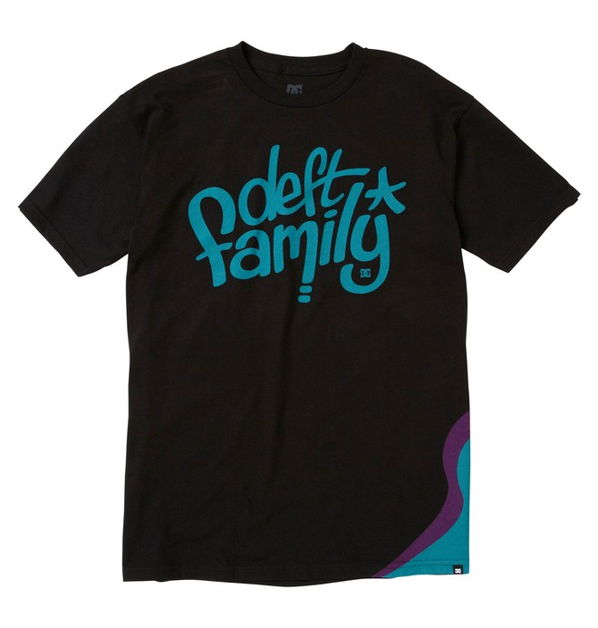 0 Men's DC X Deft Family Collab Wave Tee  51200621 DC Shoes