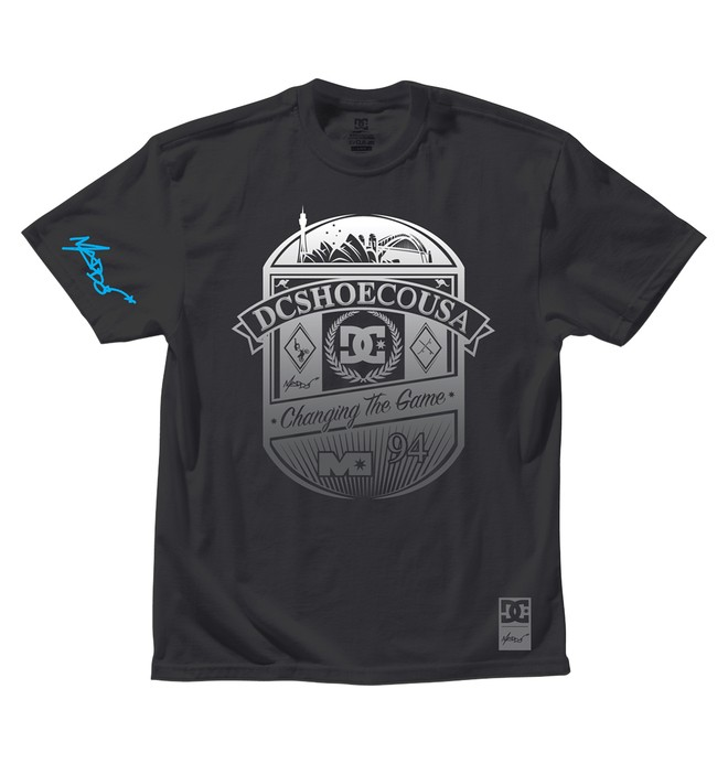 0 Men's Robbie Maddison Emblem Tee Black 51200636 DC Shoes