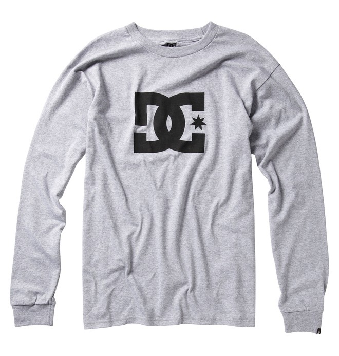 0 Men's Star Long Sleeve Tee Grey 51210003 DC Shoes