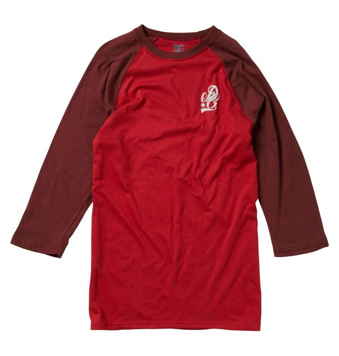 0 Men's Scripty Rag 3/4 Sleeve Tee  51220010 DC Shoes