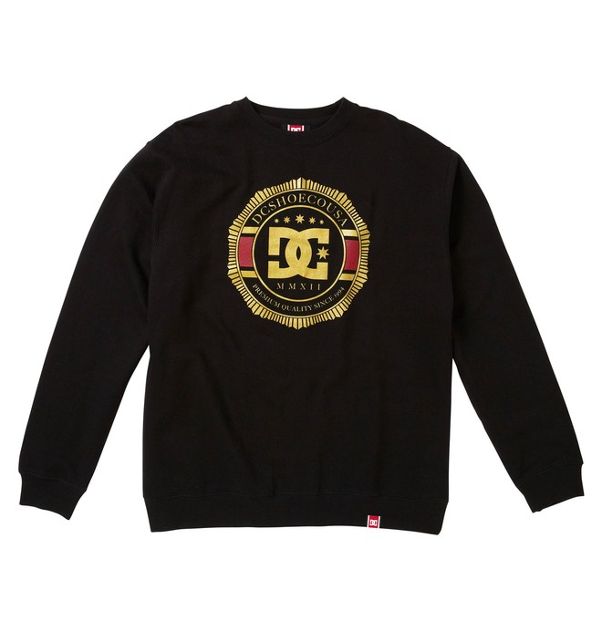 0 Men's Rob Dyrdek Lux Crest Crewneck Sweatshirt  51250012 DC Shoes
