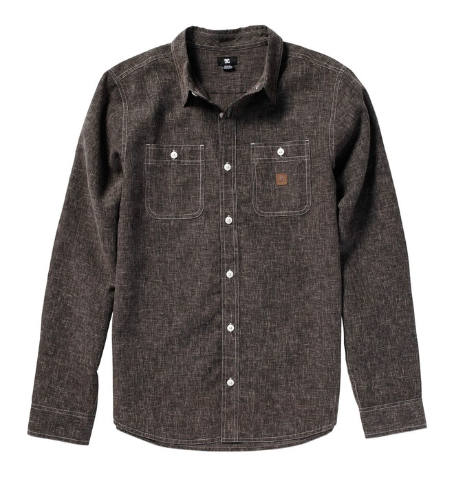 0 Men's Pistol Whip Long Sleeve Shirt  51820087 DC Shoes