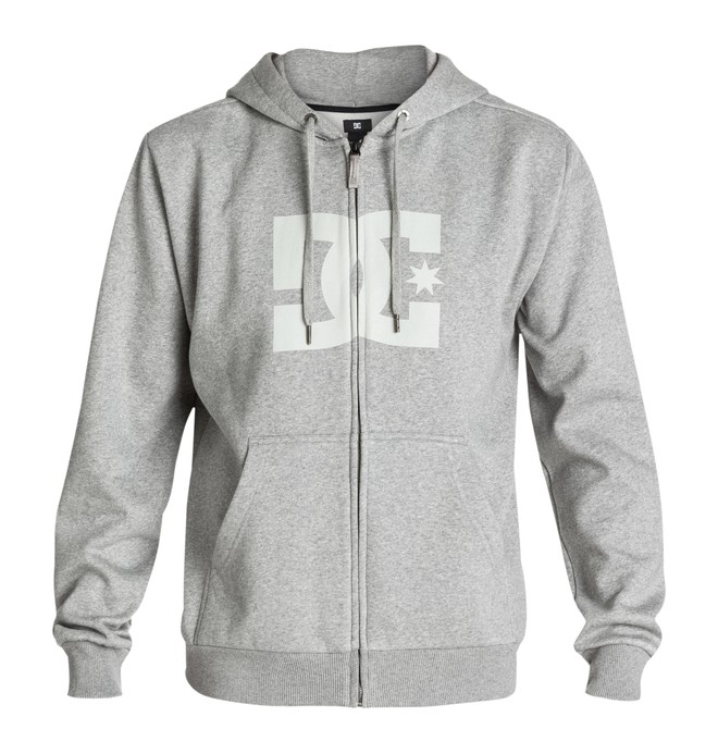 0 Men's Star ZH Hoodie Grey 53260087 DC Shoes